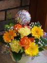 ♪母の日【バルーン付】イエロー・オレンジ系アレンジ
