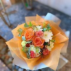 コンパクト花束(オレンジ系)