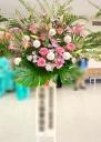 ソフトピンク系可愛いスタンド花♪(*'▽')ノ