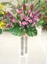 ピンク紫系人気色のスタンド花♪(*'▽')ノ