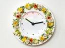 ●FLOWER CLOCK●花時計イエローグリーン