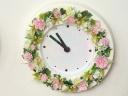 ●FLOWER CLOCK●花時計ピンクグリーン
