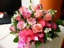 優しい雰囲気♪ピンク・ホワイトのグラデーション