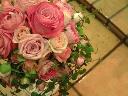 いろんなピンクのバラを「ギュッ」とつめました