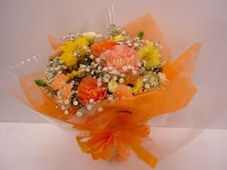 お花おまかせブーケタイプ花束 イエロー
