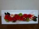 ゴージャスな赤バラのプリザーブドアレンジメント