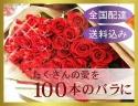 プレミアムローズレッド100本の大輪薔薇