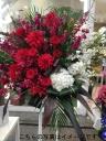 フラワースタンド花紅白