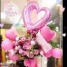 中洲人気!ピンクのバルーンスタンド1段