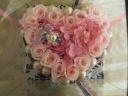 ロマンティックピンクハートのプリザーブドフラワー
