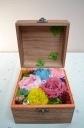 自分で生花から作るプリザーブドフラ「ウッドBOX」