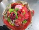 おまかせ赤花の花束