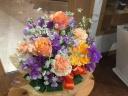 春爛漫アレンジ~オレンジ&ラベンダー~