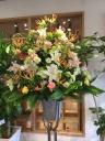~淡い色合いの~お祝い生花スタンド