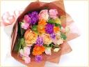 オレンジ・黄色系の花束