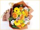 オレンジ黄色系の花束♪♪