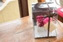 プリザーブドフラワー ケーキ バラ ピンク