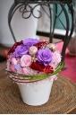 プリザーブドフラワー 紫×ピンク 母の日