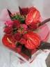 まっかなアンスリウムとバラの花束・R50
