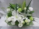 白とグリーン*洋花のアレンジメント