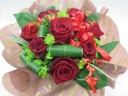 まっかなバラとグリーンのおしゃれアレンジ/AR50