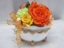 大輪のバラのプリザーブドフラワー*オレンジ30