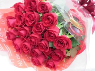 赤バラの花束(長丈)*B100