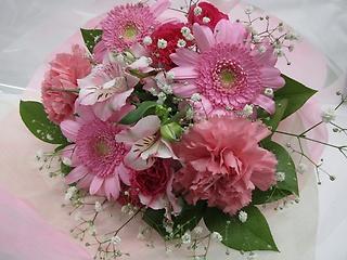 ピンク色の花束*B30