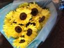 向日葵の花束