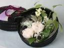 和かごのお供えプリザーブドフラワー(白菊・紫陽花)