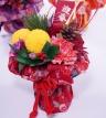 和風呂敷の花瓶の要らない花束【赤】