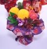 花瓶の要らない花束和風呂敷【紫】