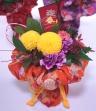 花瓶の要らない花束和風呂敷【橙】
