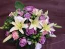 紫バラのアレンジメント