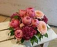 母の日アレンジ 定番ピンク