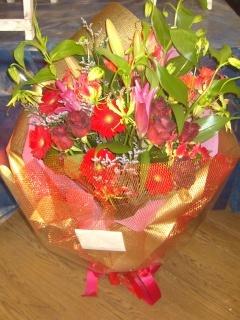 ゴージャスな花束