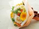 イエロー系のブーケ風花束