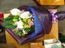 お供えの花束(明るめ)