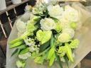 白・グリーンの御供花束