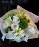 【お供え花束】ホワイトグリーン系(洋花仕様)