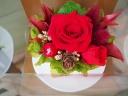 コーヒーカップ赤バラ