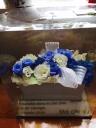 陶器の青いバラ