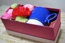 波佐見焼のマグとお花をお母さんに・・ブルー