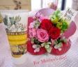 ②花型プリザーブドフラワー&RUDYハンドクリーム