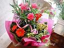 カーネと可愛い花鉢&アイビー♪(ピンクカーネ)