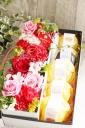 宮崎の果物を使ったゼリーとアレンジメントのセット