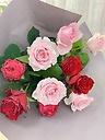 赤ピンクのご自宅用バラ