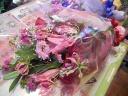 ピンクとレッドのおまかせブーケ