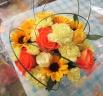 母の日アレンジ黄色オレンジ系