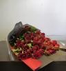 赤の薔薇の花束